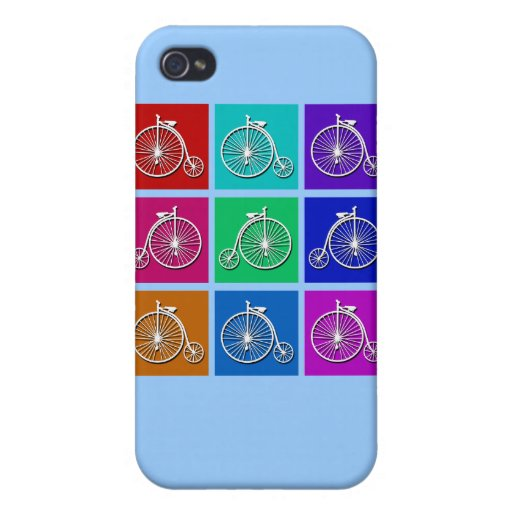 Pop Art Vintage Bicycle Tshirts and Gifts Covers For iPhone 4