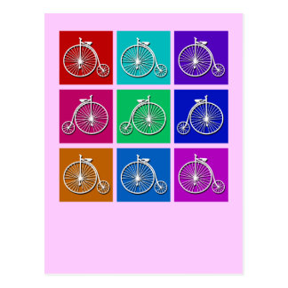 Pop Art Vintage Bicycle Tshirts and Gifts Postcard