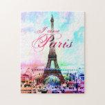 Pop Art Vintage Eiffel Tower Jigsaw Puzzle