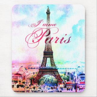Pop Art Vintage Eiffel Tower Mouse Pads