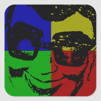 Pop Art Vintage Grunge Design Jiggy Pop Cletus Square Sticker