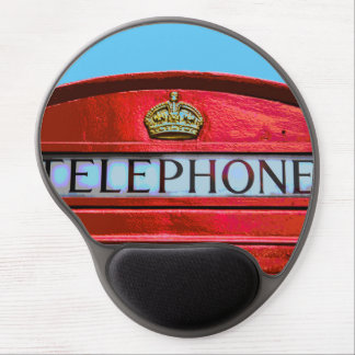 Pop Art Vintage London City Red Telephone Booth Gel Mouse Pad