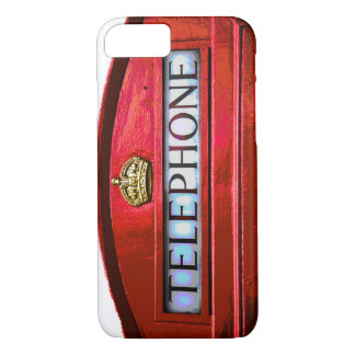 Pop Art Vintage London City Red Telephone Booth iPhone 8/7 Case