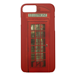 Pop Art Vintage London City Red Telephone Box iPhone 7 Case