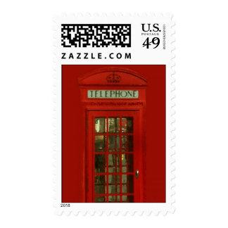 Pop Art Vintage London City Red Telephone Box Postage