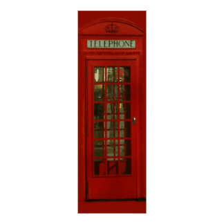 Pop Art Vintage London City Red Telephone Box Poster