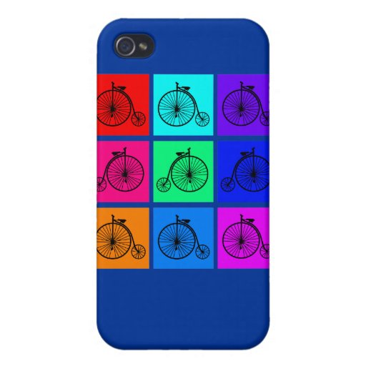 Pop Art Vintage Two Wheeler Bike Apparel iPhone 4/4S Cases
