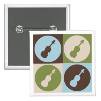 Pop Art Violin Pinback Button