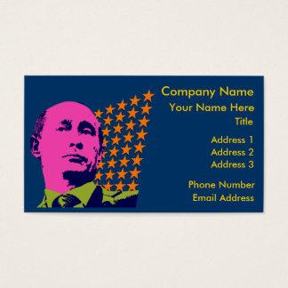 Pop Art Vladimir Putin Business Card