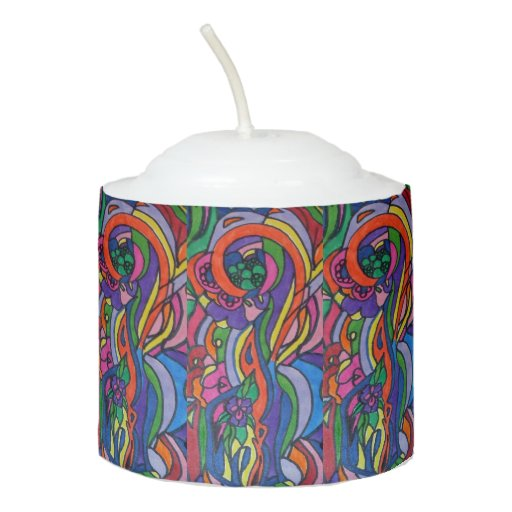 Pop Art Votive Candle