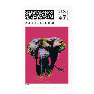 Pop Art Walking Elephant Stamps