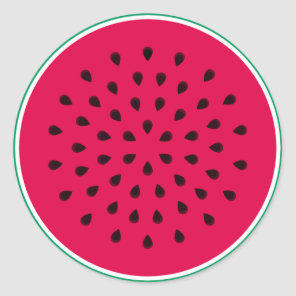 Pop art Watermelon Classic Round Sticker
