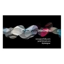 pop, art, waves, modern, sleek, designer, cool, circles, curves, colorful, artist, creative, Business Card with custom graphic design