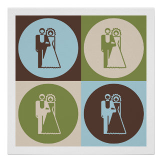 Pop Art Weddings Poster