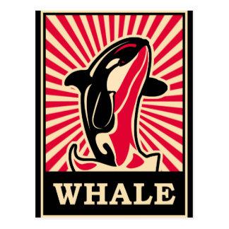 Pop Art Whale Postcard