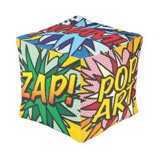POP ART WHAM! BANG! ZAP! POW! SPLAT! CUBE POUF