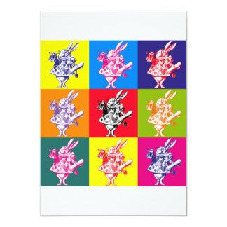 Pop Art White Rabbit Card