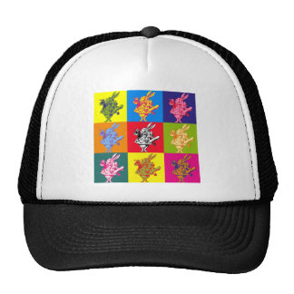 Pop Art White Rabbit Full Colour Trucker Hat