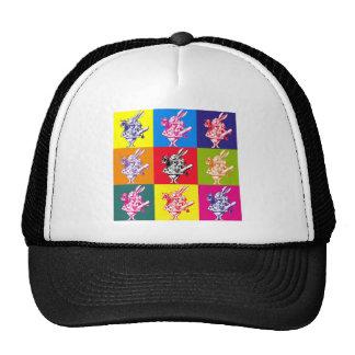 Pop Art White Rabbit Trucker Hat