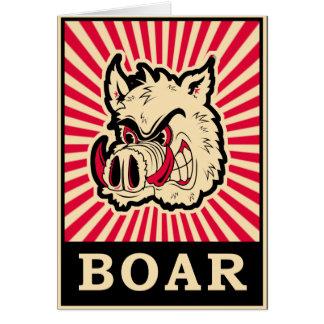 Pop Art Wild Boar Card
