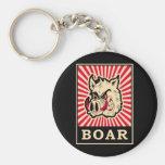 Pop Art Wild Boar Keychain
