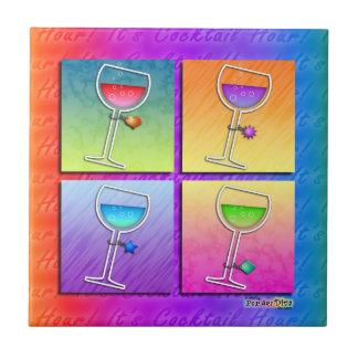 Pop Art Wine Coaster Tile