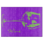 Pop art wine glass modern cutting board