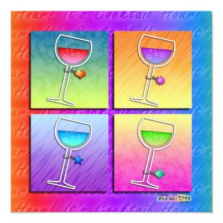 Pop Art Wine Invitation