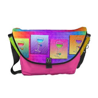 POP ART WINE MESSENGER BAG