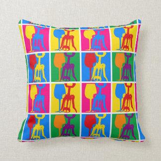Pop Art Wine Throw Pillows