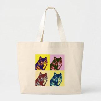 Pop Art Wolf Bags