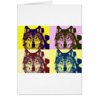 Pop Art Wolf Card
