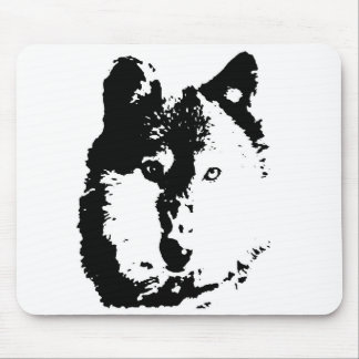 Pop Art Wolf Mouse Pad