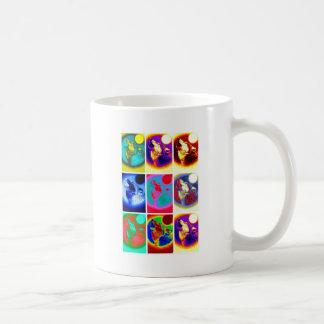 Pop Art Wolf Classic White Coffee Mug