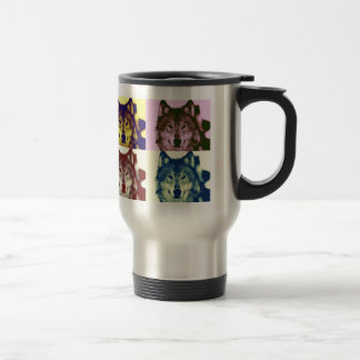 Pop Art Wolf 15 Oz Stainless Steel Travel Mug