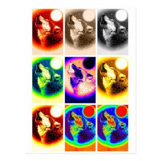 Pop Art Wolf Post Card