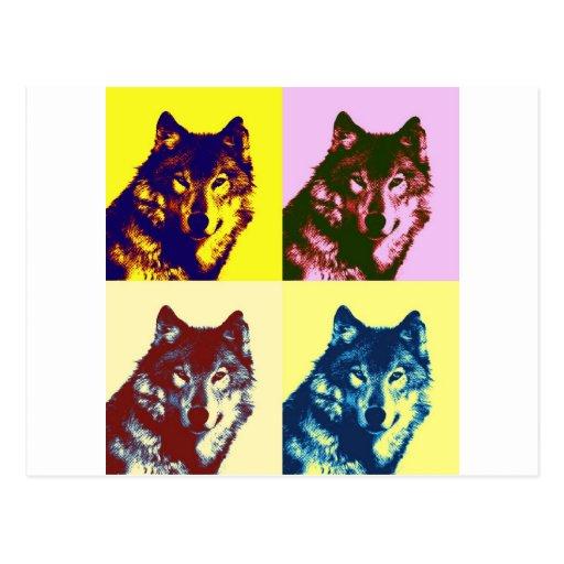 Pop Art Wolf Post Cards