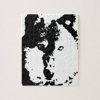Pop Art Wolf Puzzle