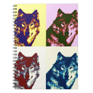Pop Art Wolf Spiral Notebook