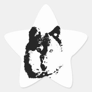 Pop Art Wolf Star Sticker