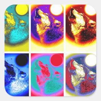 Pop Art Wolf Stickers