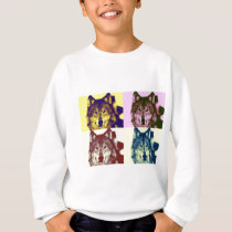 Pop Art Wolf Sweatshirt