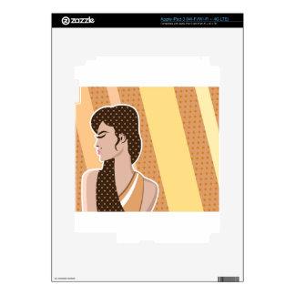 Pop art Woman Decals For iPad 3