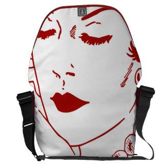Pop art woman courier bag