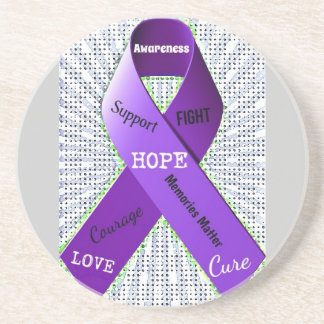 Pop Art Words of Hope Coaster
