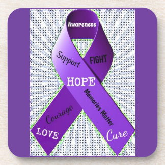 Pop Art Words of Hope Drink Coaster