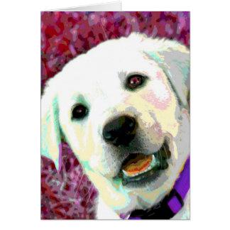 Pop ART Yellow Lab puppy Card