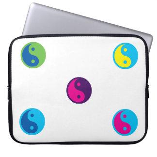 Pop Art Ying Yang Laptop Sleeves