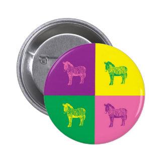 Pop Art Zebra Button