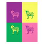 Pop Art Zebra Letterhead